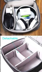 Store headphones and other accessories with organizer bag
