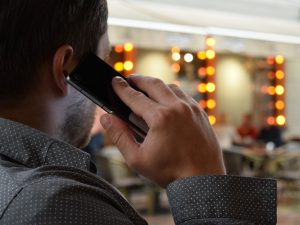 person talking on smart phone is prone to radiation
