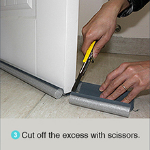how to use draft door stopper