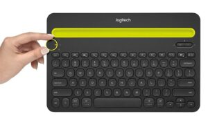 wireless keyboard features - switch dial